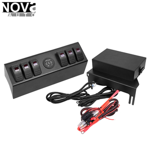 2018 Latest Car Accessories, 6 Circuit Led Light Switch Panel And Converter For Jeep JK
