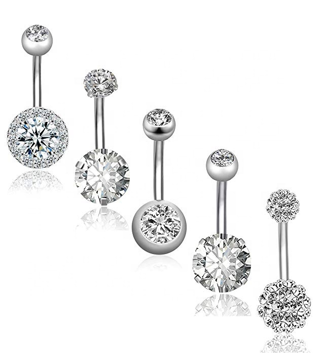 316L Surgical Stainless Steel Belly Button Rings фото