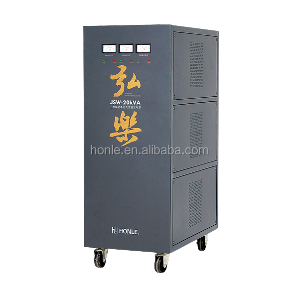 JSW Series precision purifying three-phase avr 20kva voltage stabilizer