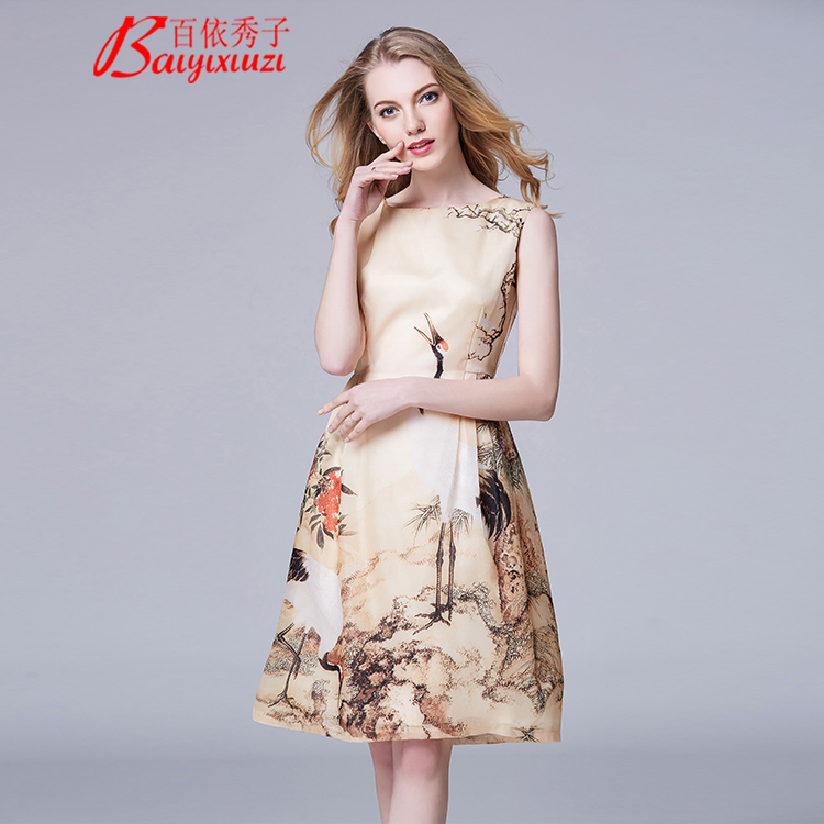 Women's Sleeveless <strong>Faux</strong> <strong>Wrap</strong> O-Neck Cute Summer Floral Maxi Dress And Vintage silk dress