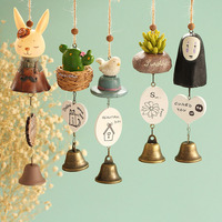 Japanese Little Gift Bell Pendant PVC Ceramics Rabbit Sheep Cactus Wind Chime
