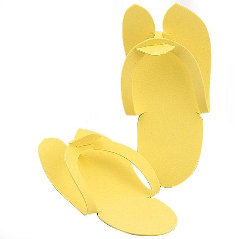 a9f3a919c52 Get Quotations · 6pair lot Yellow Rubber Thong Disposable Pedicure Flip  Flop Slipper J0531-1
