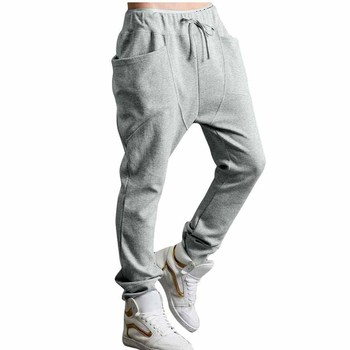 Hot selling hip hop mens 100% shiny cotton exercise pants