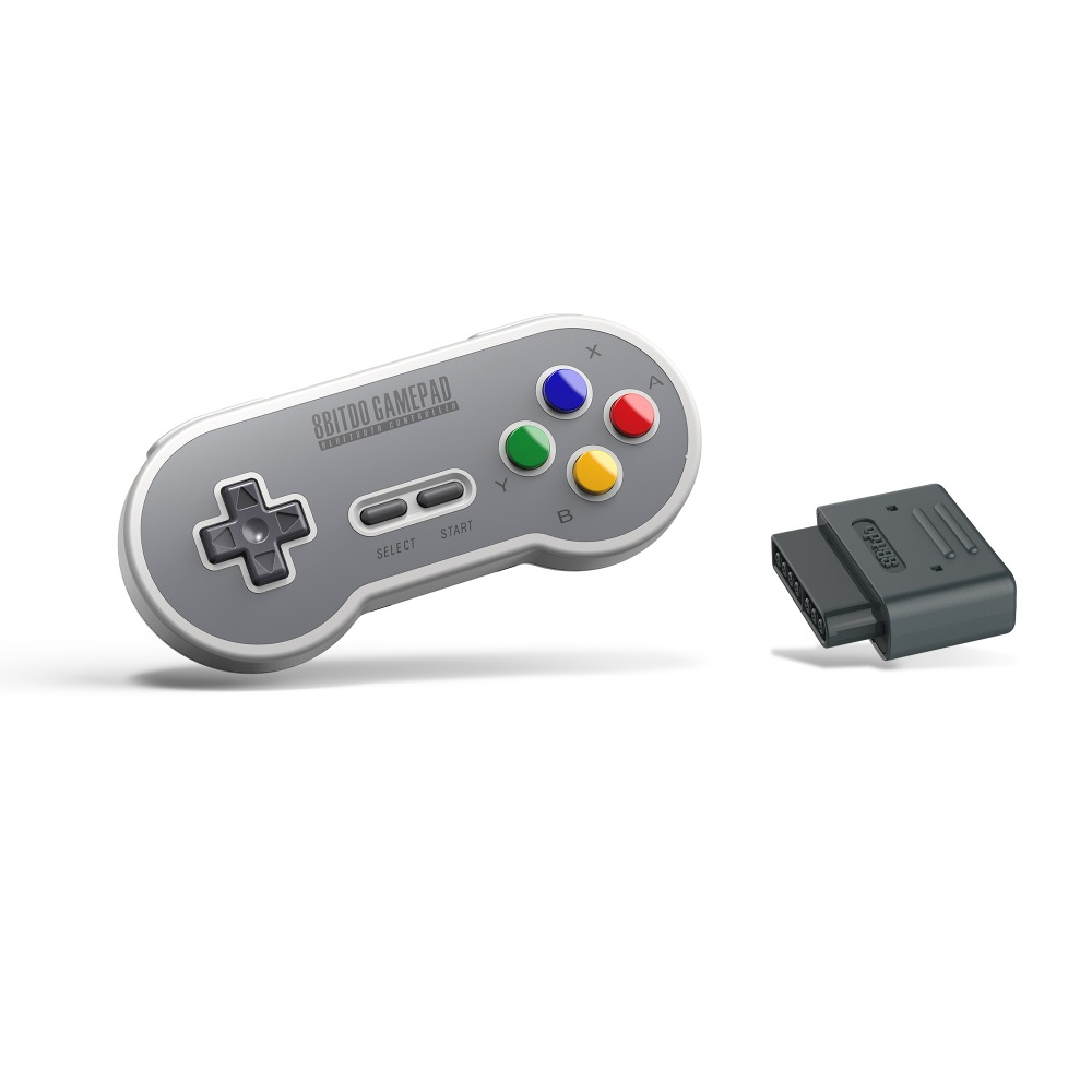 8bitdo Sf30 Retro Set Include Wireless Sn30 Controller Retro Receiver For  Snes - Buy Wireless Sn30 Controller,8bitdo Sf30 Retro Set,Sf30 Retro Set