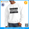 Custom Printed Plain White Sweatshirt Classic Fit Cotton Crew Neck Thick Fleece Winter Clothing Cheap From China