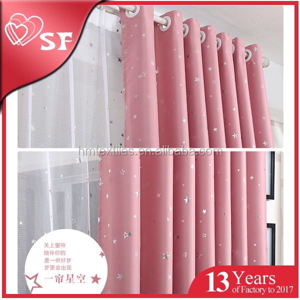Polyester high quality 3 pass coated blackout curtain fabric in China