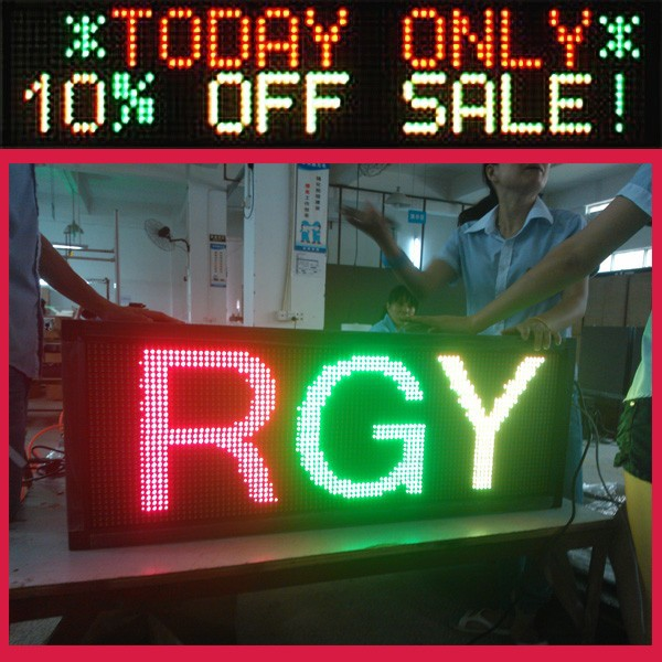 wall install programmable led moving message sign board/ph10mm scrolling led message display sign