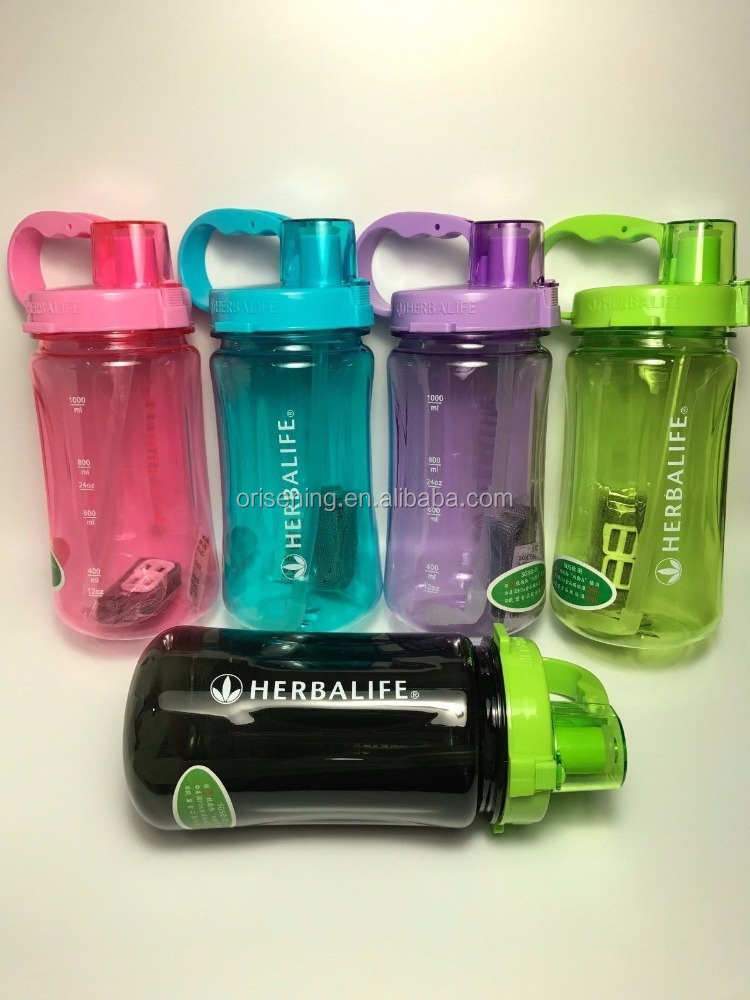 Multicolor Herbalife 1000ML Shake Sport Water Bottle Tritan Herbalife Nutrition