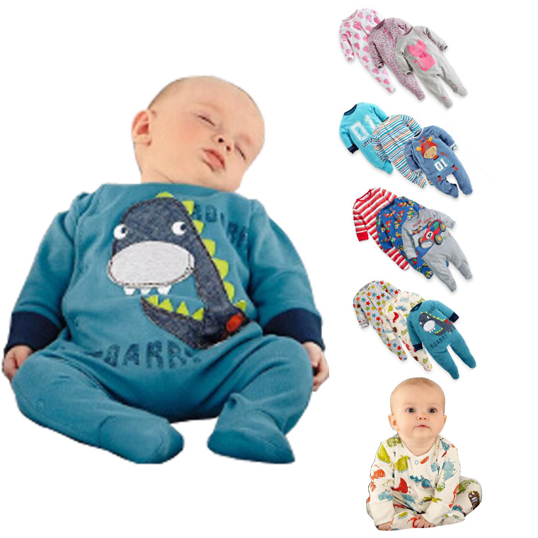 3Pcs/Lot 2016 Newborn Baby Rompers Clothing Baby Boys Clothes Toddler One-Pieces Roupas De Bebe Infantil Jumpsuit Free Shipping