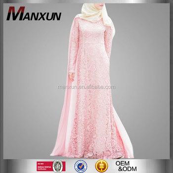 039fb1deb1 Latest Fashion Dubai Muslim Abaya Roses Women Cape Lace Evening Dress Long  Sleeves Maxi Gown