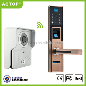 Factory New Wifi Doorbell Unlock Finger Print Lock Wireless Front - Front door camera iphone