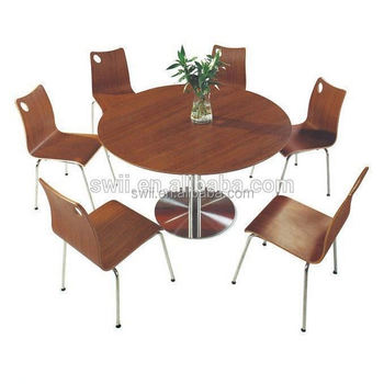 Design Buffet Dining Table Chair Fast Food Wood Table Chairs Cheap