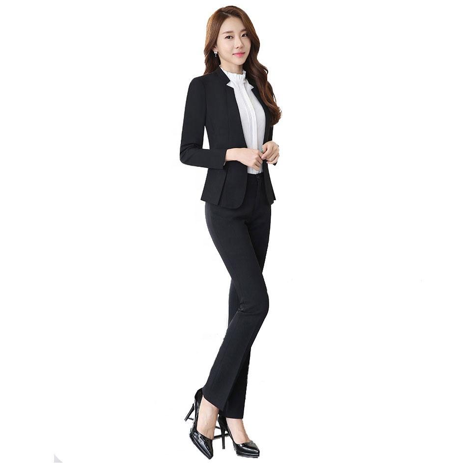 c61d6765af3a Для женщин бизнес костюмы большой размеры с длинным рукавом офисные женские  ...