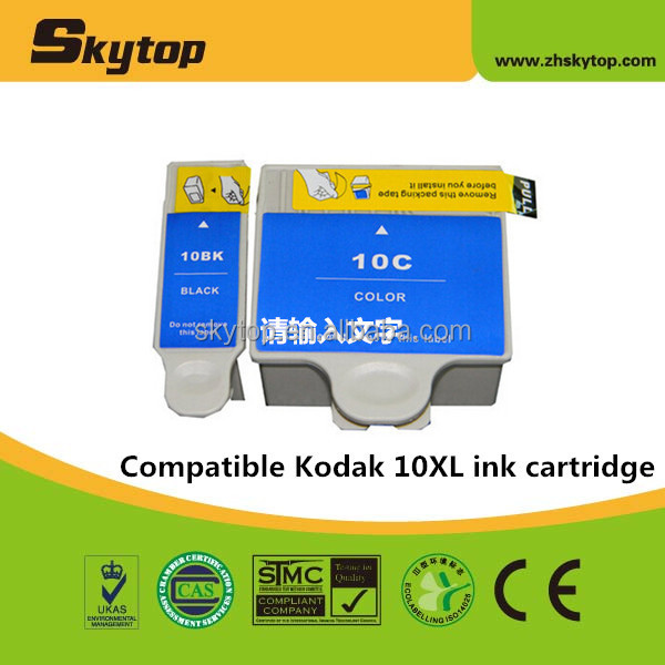 Compatible Kodak ink cartridge for Kodak 10XL inkjet cartridge print