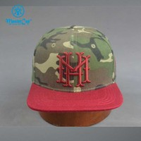 Wholesale Custom Camo Baseball caps with Flat Embroidery