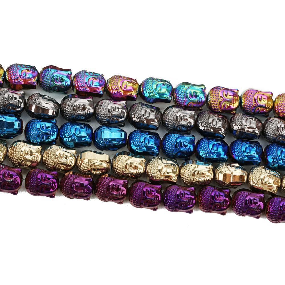 8*10mm di placcatura testa di buddha di pietra della catena del branello di gioielli e accessori