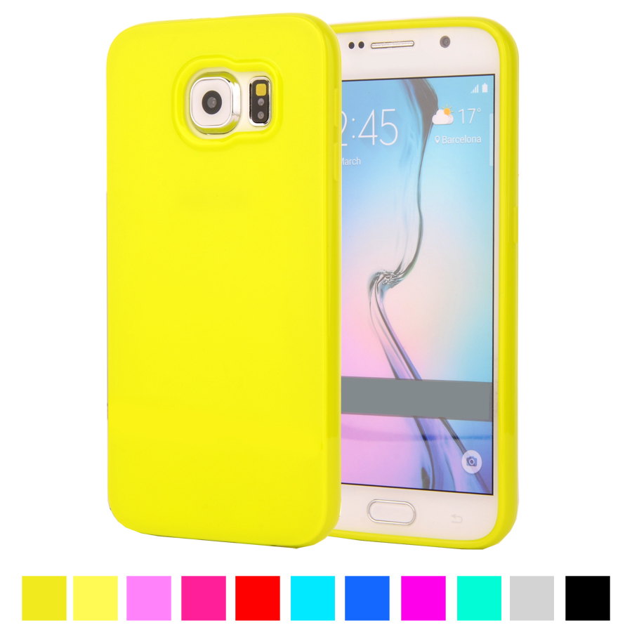 new concept e6fc0 0054d Candy Color Silicone TPU Gel Soft Case Rubber Material Soft Back Cover For  Samsung Galaxy S6 G9200 G920F Shockproof Phone Bag