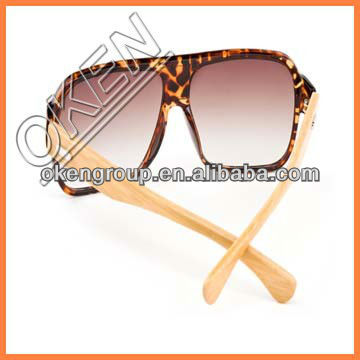 Wholesale unisex lower price bamboo arms wooden sunglasses