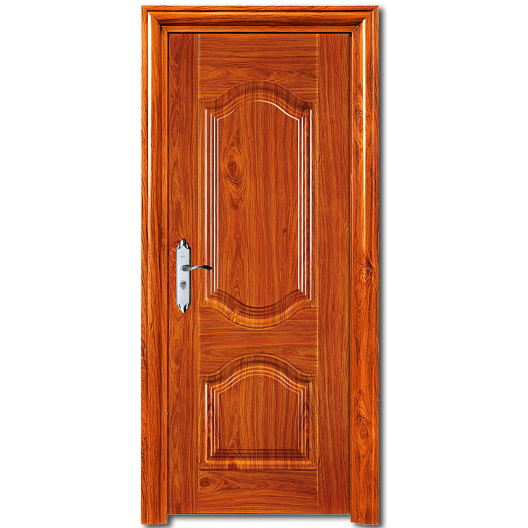 HS-1858 latest design wooden interior room <strong>door</strong> security china steel low prices iron <strong>door</strong>