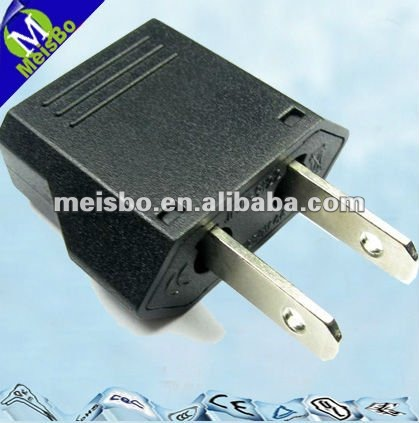 Accessory 2 flat pins plug 6A 110/250V AC CE RoHS United States and Australia Electrical travel convert adapter socket plug 9122