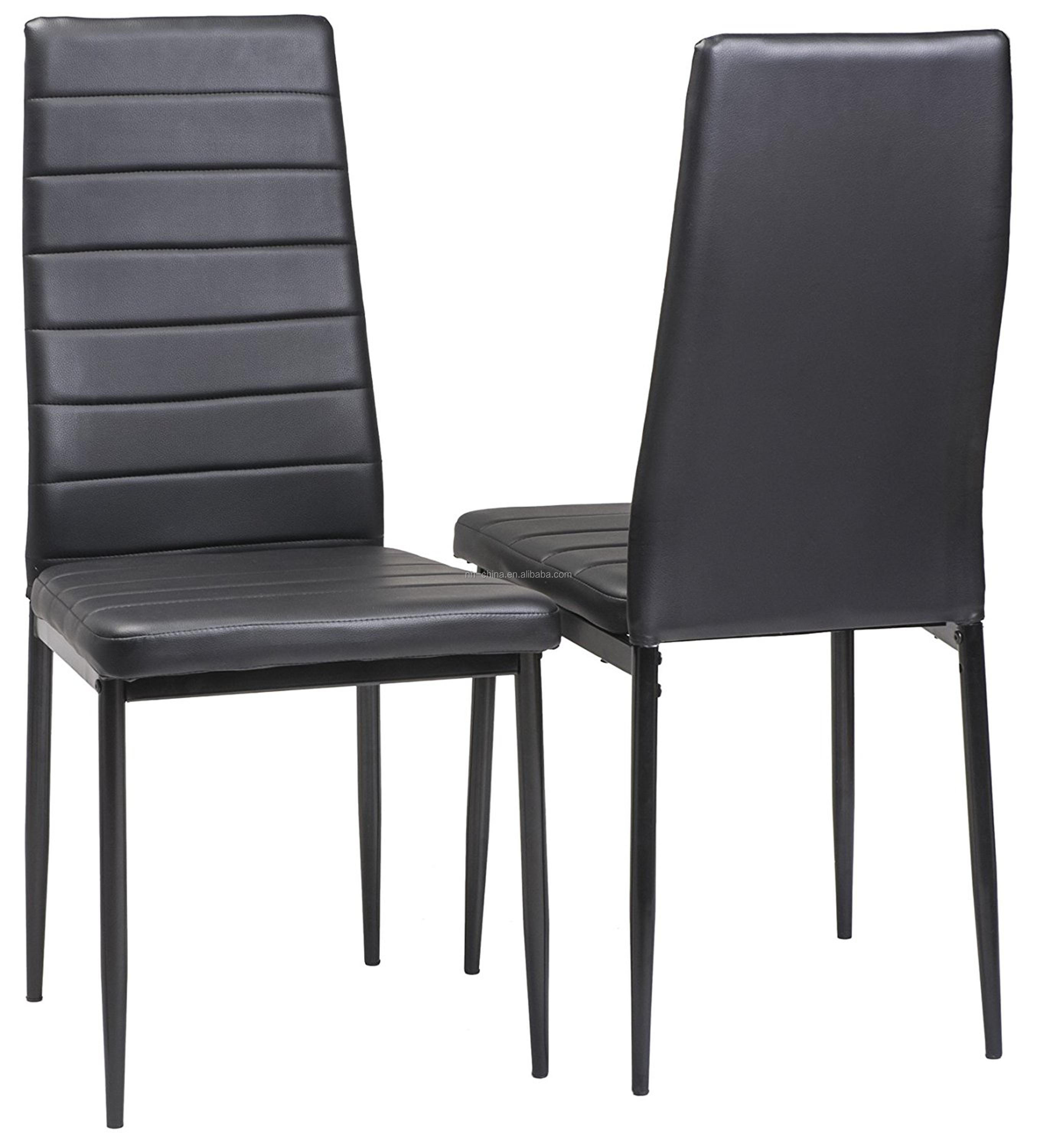 Wholesale High Back Upholstered Leather Dining Chair With ...