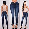 2018 Woman Highwaisted Shaping Hip String Jeans Lace Up Pencil Curvy Jeans Skinny Stretch Jeans