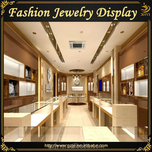 High-end Jewelry Showroom Interior Design With Jewellery Furniture ...