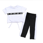 Hafu Fashion Active Wear Kids Sweat Suits Black and White sport tracksuit baby girl clothing set