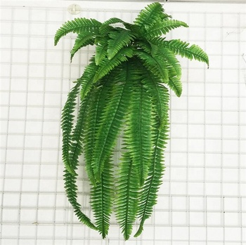 Factory Supply Simulation Fern Grass Green Plant Artificial Fern Persian Leaves