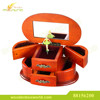 2-tier Oval Cherry Wood Ballerina Musical Jewelry Box