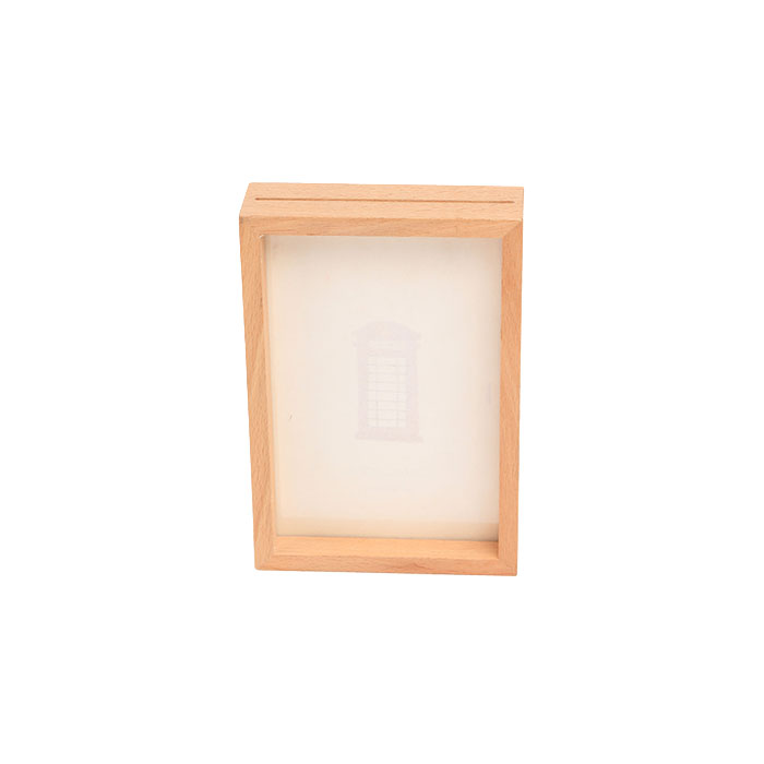 Happy birthday photo frame made of natural pine wood /six picture frame for gift