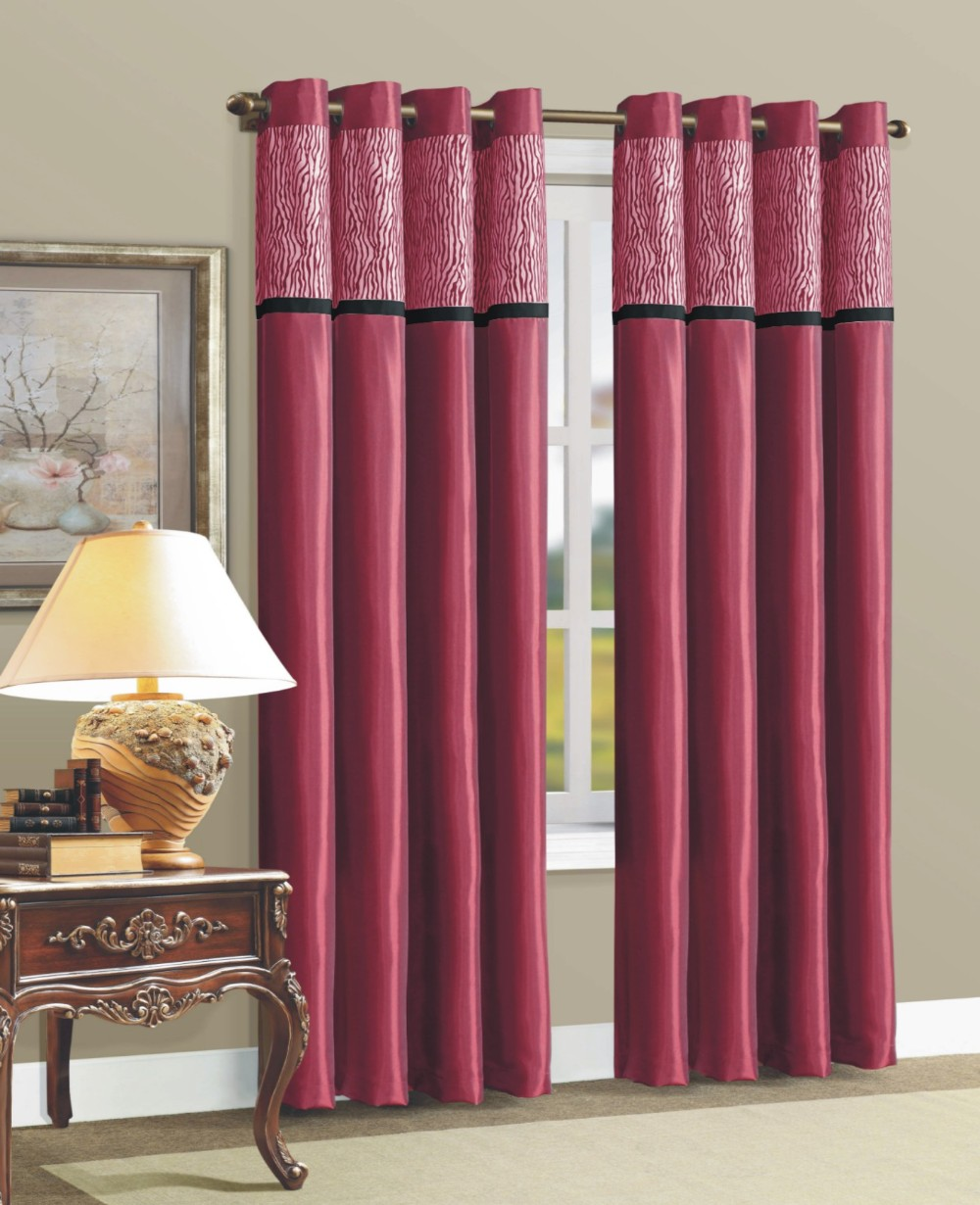 Silk Curtains For Living Room 1pc Faux Silk Solid Panel Curtains Designs With 8 Grommets Living