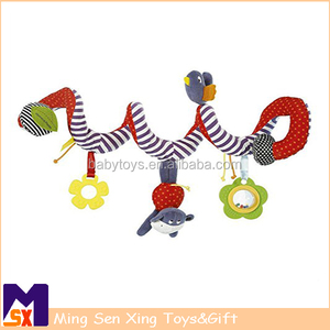 Snake Baby Crib Activity Spiral Stroller Toy