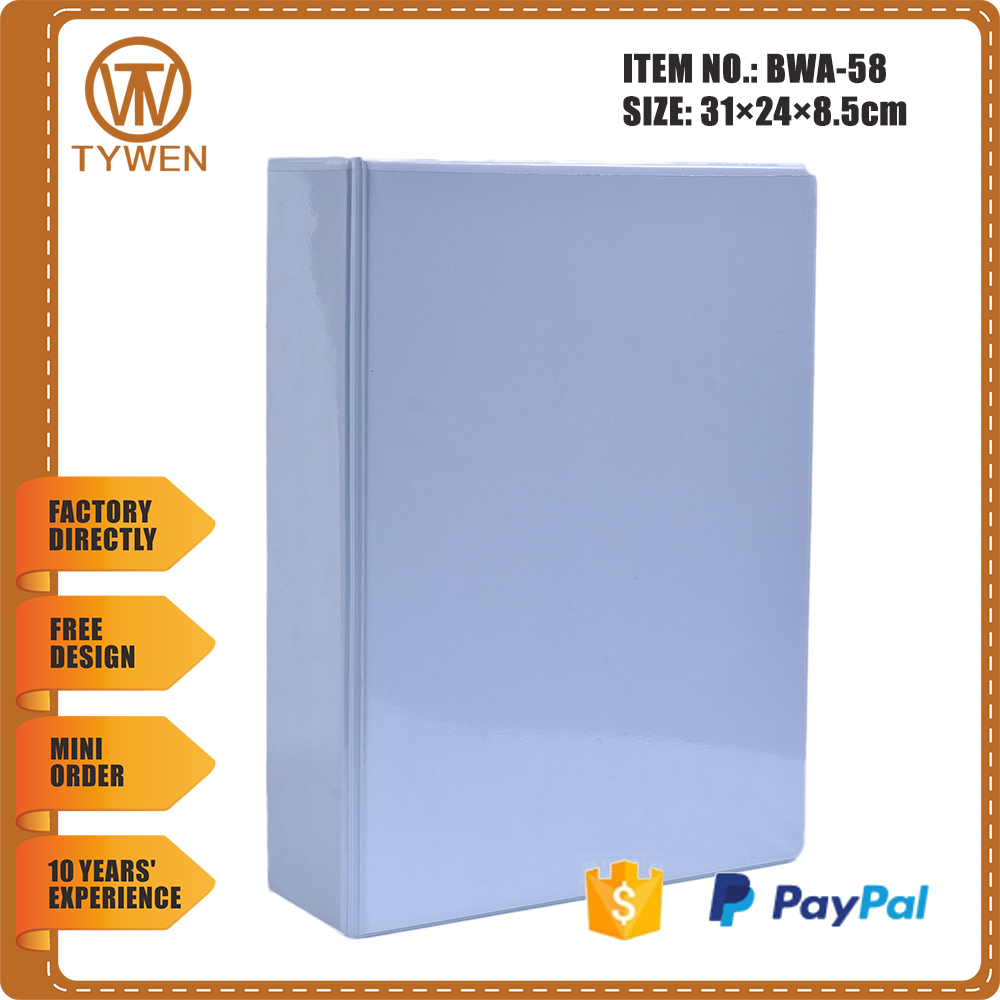 BWA-58 Top quality 4 pin post binder pvc file folder with transparent pocket