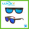 China 2017 wood mirror sunglasses glasses bulk metal hinge sunglasses MOQ 50pcs