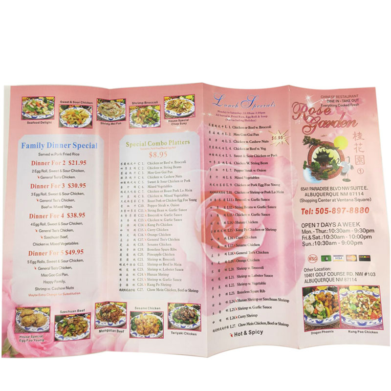 Custom A2 A3 A4 A5 commerciale poster/volantino/flyer/menu di stampa