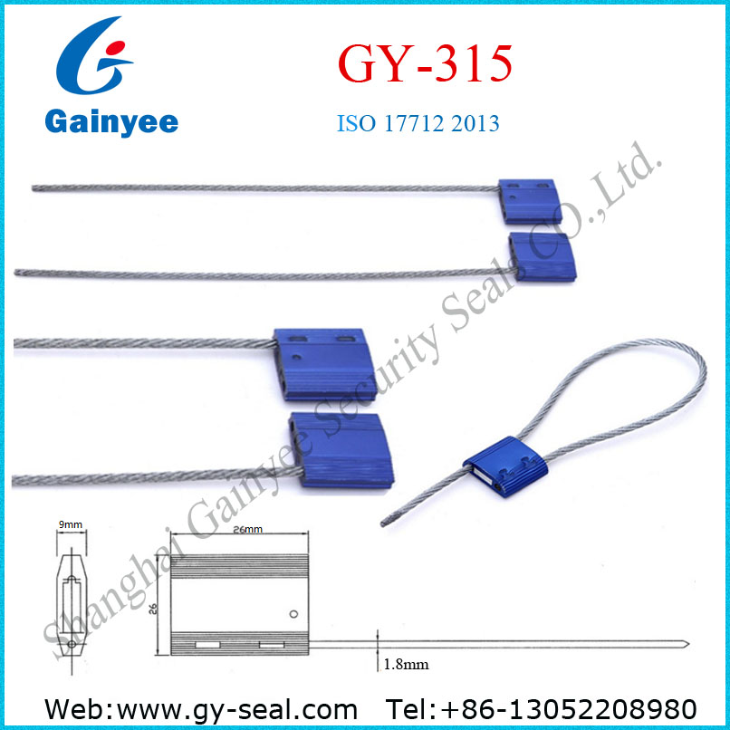 2016 Newest uhf rfid tag seal, aluminum Cable seal,security meter seal GY315