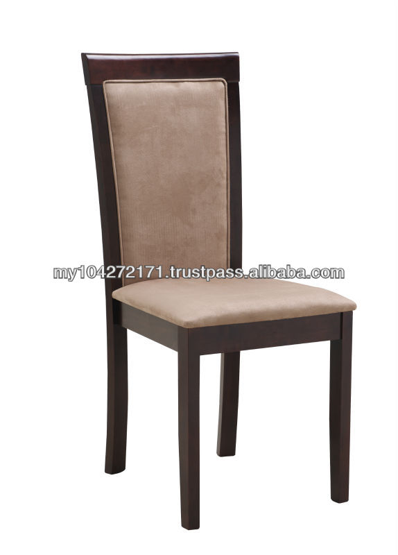 Judy Wooden Dining Chair with Cushion Seat & Upholstered Backrest