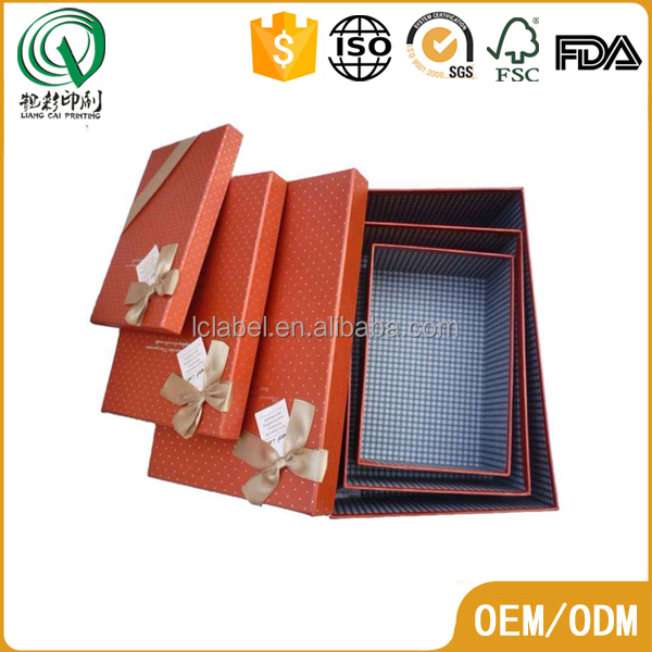 New style small matt empty chocolate boxes paper chocolate boxes with ribbon