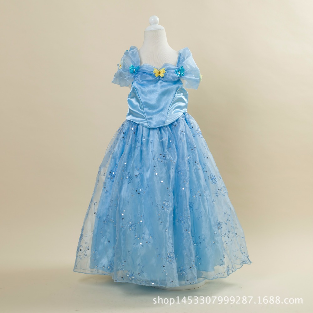 3 8 years Cinderella Princess font b Dress b font 2016 New Girls Movie Cosplay Costume