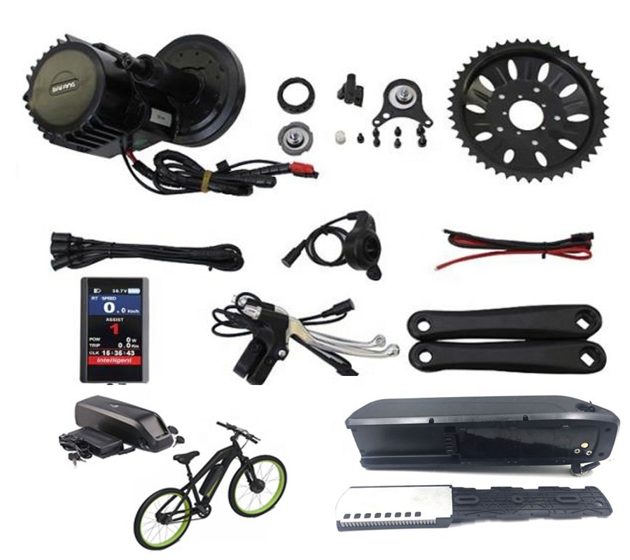 2019 latest bafang central motor BBS02 48V 500W e bike kits with light connector wire