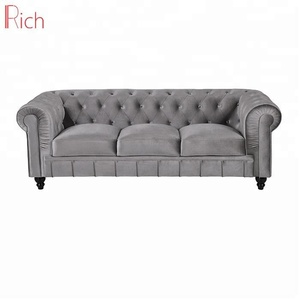 Wholesale Modern Home Furniture Velvet Cover Couches Cheap Sofa Chesterfield