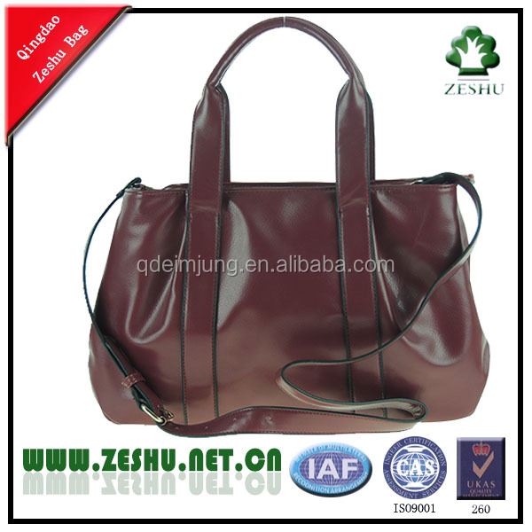 China wholesale high quality synthetic leather handbags