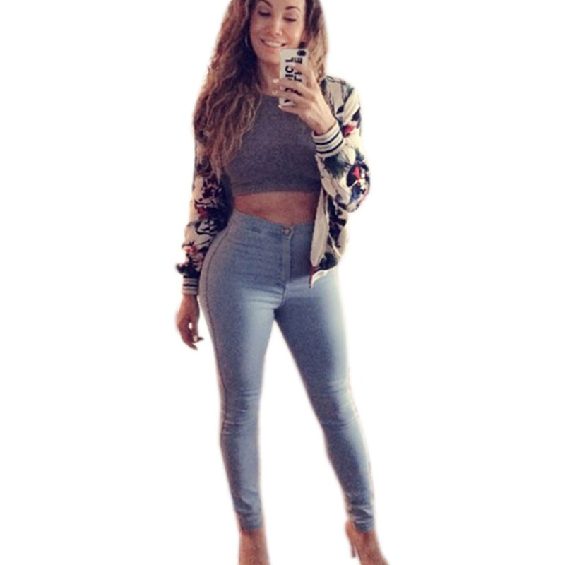 Sexy woman in tight jeans