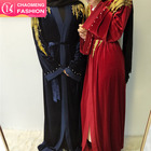 1694-1701# luxury turkey fashion black latest design winter velvet abaya for muslim women long kimono dress robe dubai