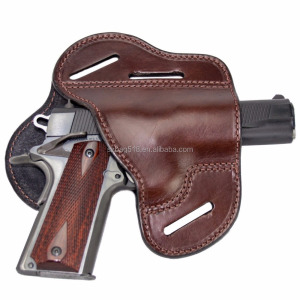 China factory OEM custom logo tactical leather waist belt gun holster