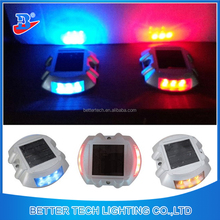 Long lifespan Aluminum Traffic Security Solar Road Stud LED Flashing Light
