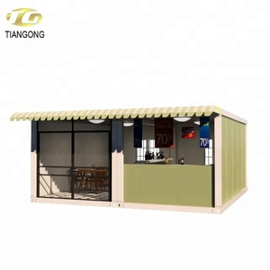 Container House Hong Kong Luxury Prefab Modular Container Coffee Shop Restaurant House