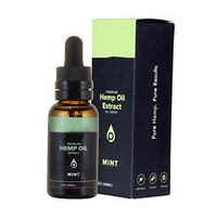 Mint Flavored Pure Hemp Oil Extract - 100% Natural - Reduce Anxiety, Relieve Pain, Improve Sleep Quality
