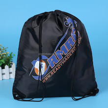 BSCI audited factory sports polyester fabric draw string bag